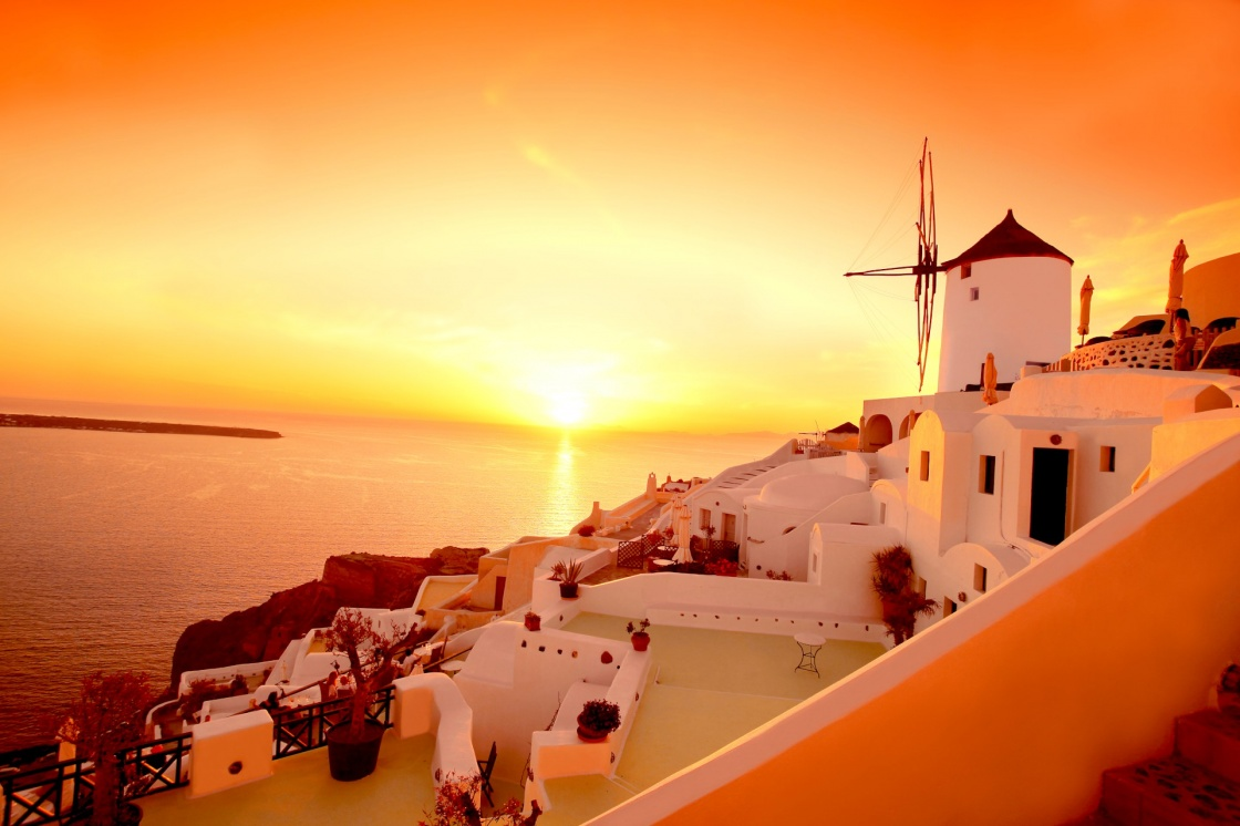 Enjoy the most famous sunset in the world in Santorini
